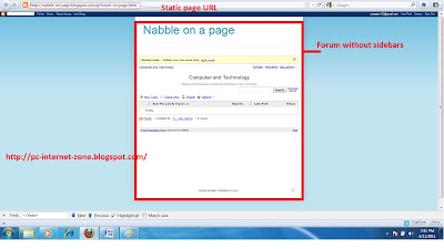 Free Nabble Forum without sidebars for blogspot/blogger blogs