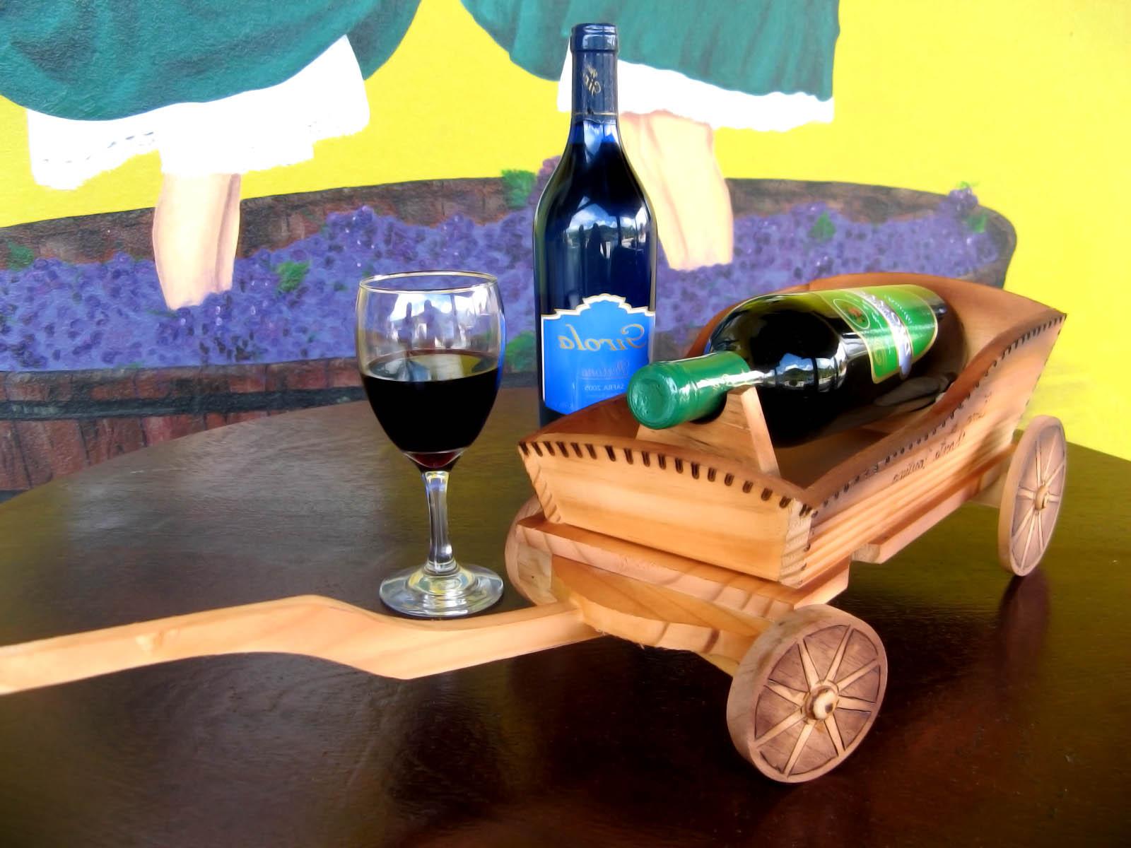 Arte em Madeira: Suportes para Garrafa Carroça e Carro de Boi #C6AE05 1600x1200