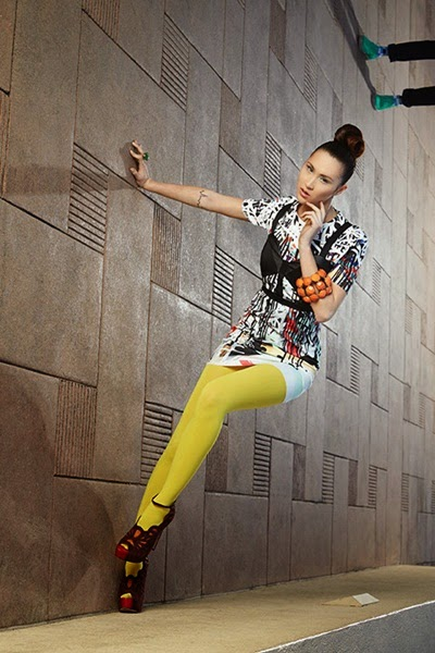 Zara 2014 Spring Urban Graffiti Art Dress
