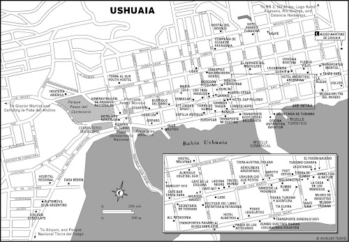 Ushuaia city map