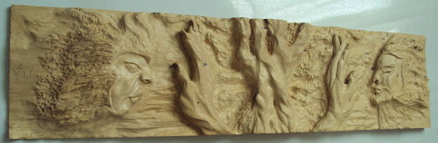 relief carving, wooden art