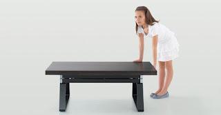 Table basse relevable en hauteur