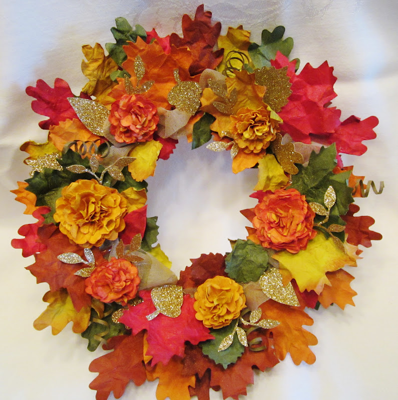 Creating With Carol Tutorial For Sale For Autumn Wreath