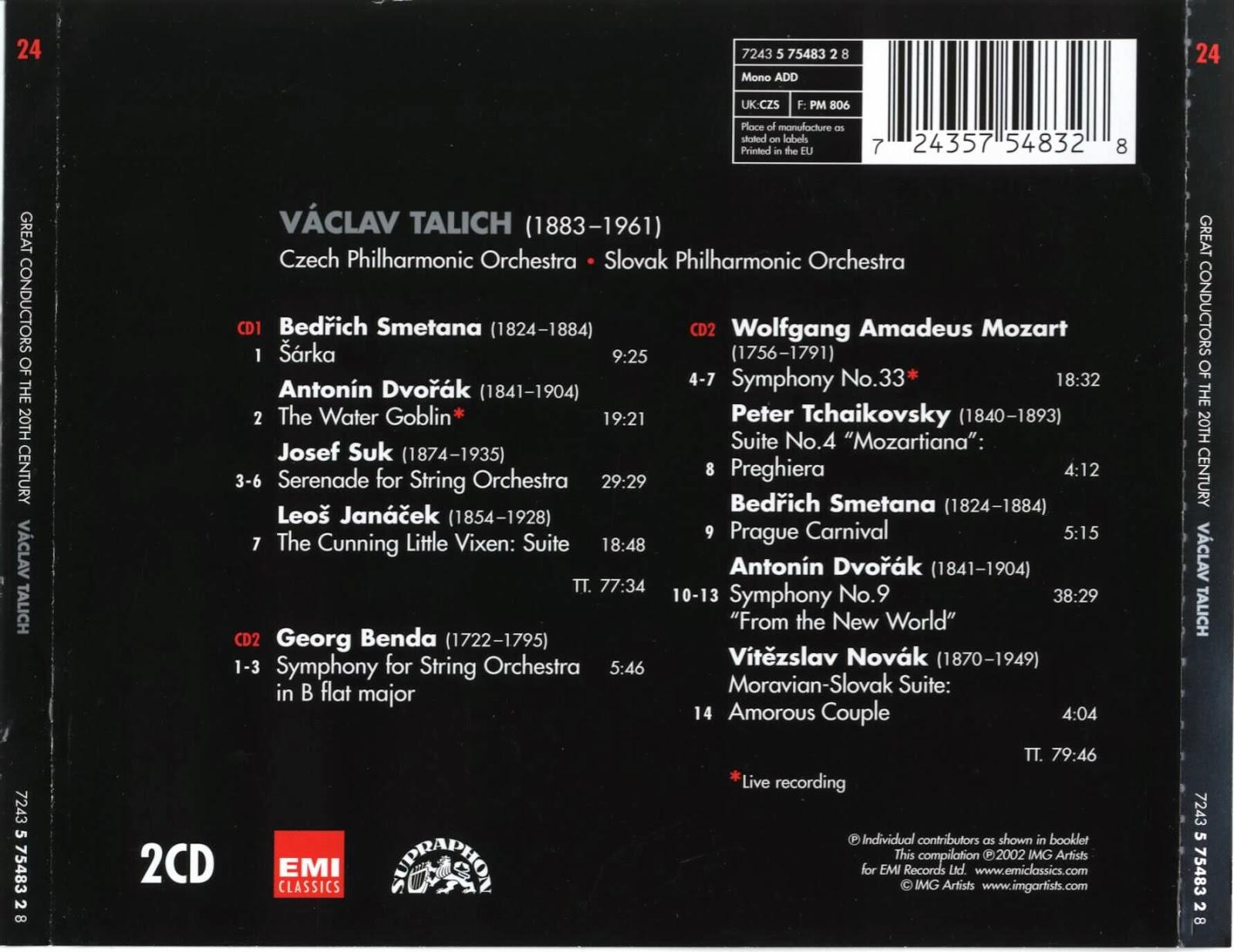Václav Talich - Pyotr Ilyich Tchaikovsky P. I. Čajkovskij Talichovský Archiv III.