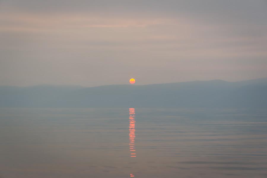 Kolej Transsyberyjska - Jezioro Bajkał - Zachód Słońca