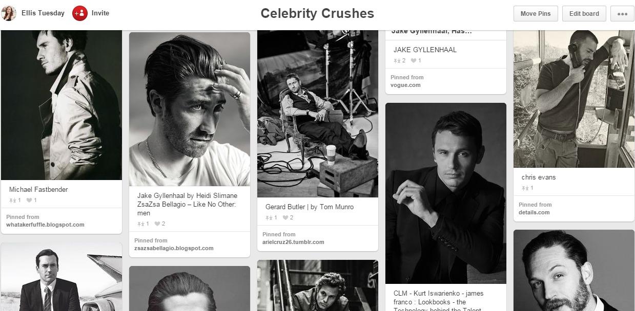 Celebrity Pinterest Board