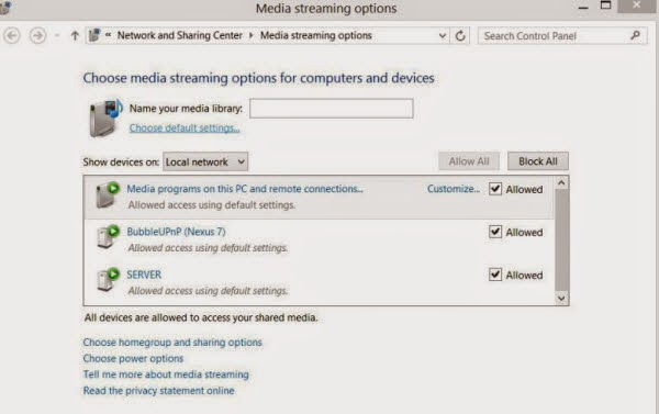 media streaming options
