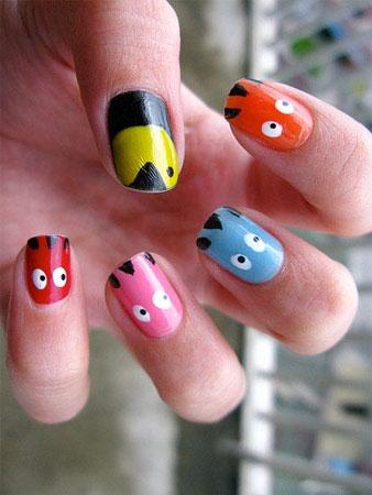 Nail art pictures nail art games kids free nail art game pacman nail designs prinsesfo Images