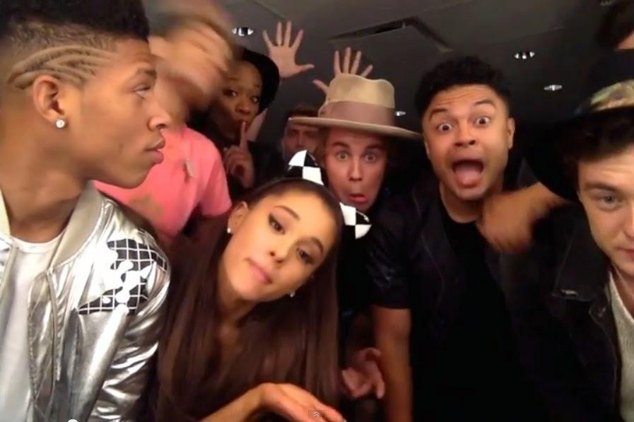 Romeo Miller And Justin Bieber Justin Bieber  Ariana Grande