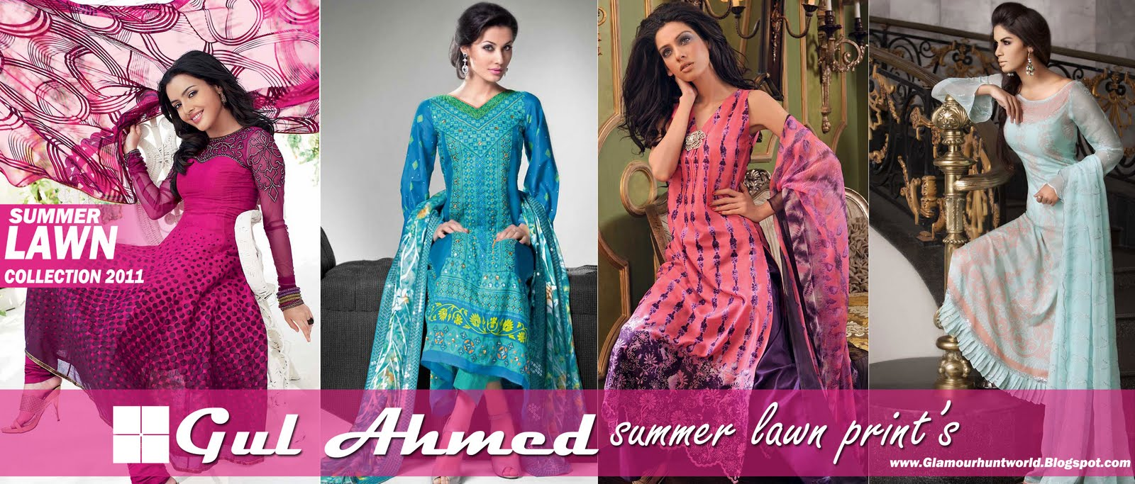 Gul Ahmed Summer Lawn Collection 2011-12 | Gul Ahmed Summer Prints ...