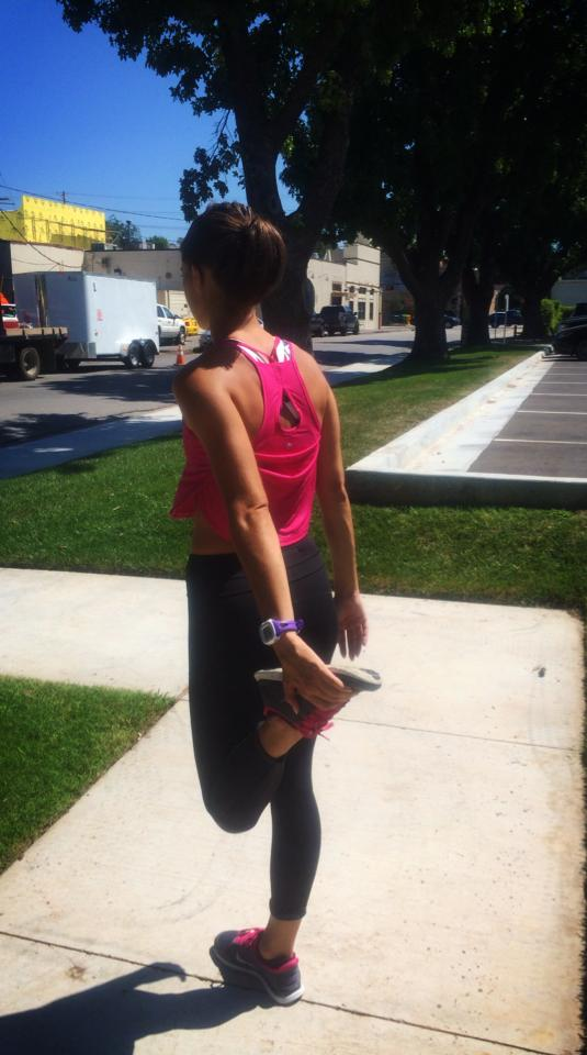 lululemon on the run singlet-magenta