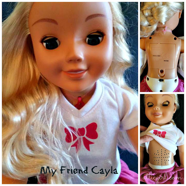 "My Friend Cayla 18"" talking doll, Genesis toys"