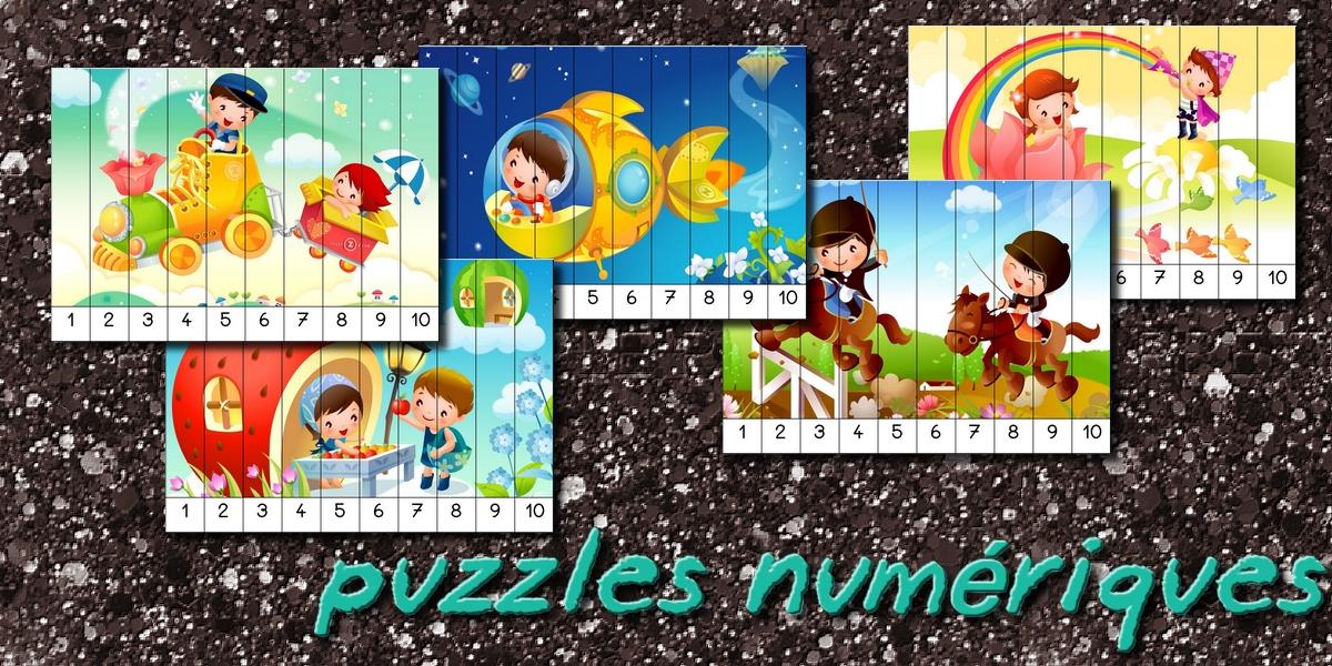 Extrêmement La maternelle de Laurène: Puzzles numériques UX48