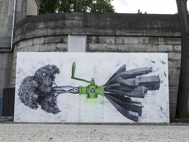Our friend Ludo is back on the streets of Paris where he was commissioned by the city council to create a series of new piece close to the Orsay Museum.