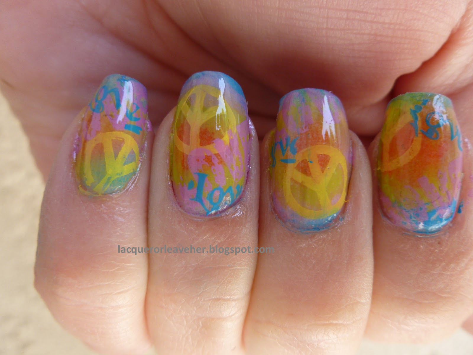 Hippie Nails Groovy Man