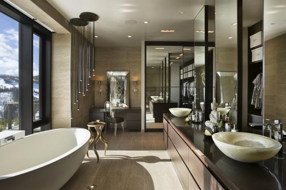 стильный интерьер ванной комнаты с окном фото 79443