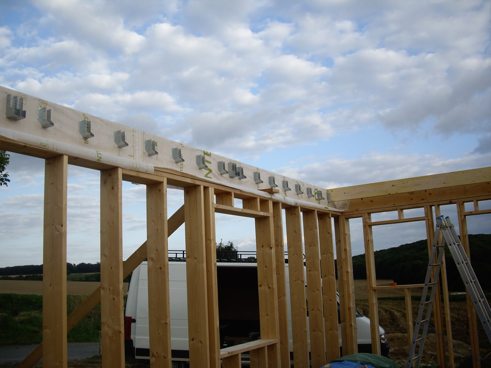 notre auto construction passive maison ossature bois m o b ossature bois jour 20. Black Bedroom Furniture Sets. Home Design Ideas