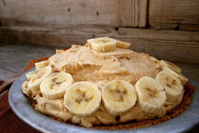Peanut Butter Banana Cream Pie with Chocolate Ganache