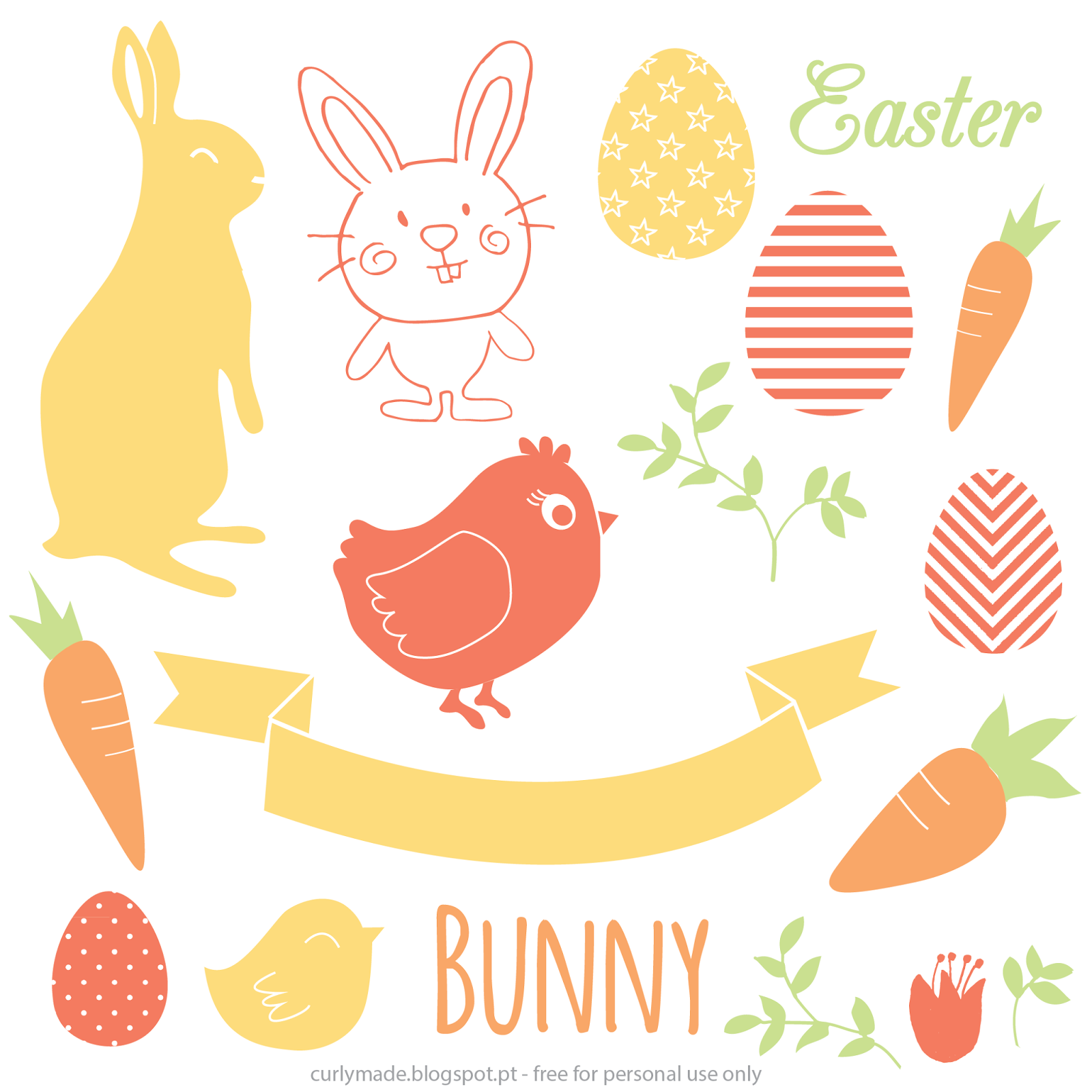 free easter vectors curly made