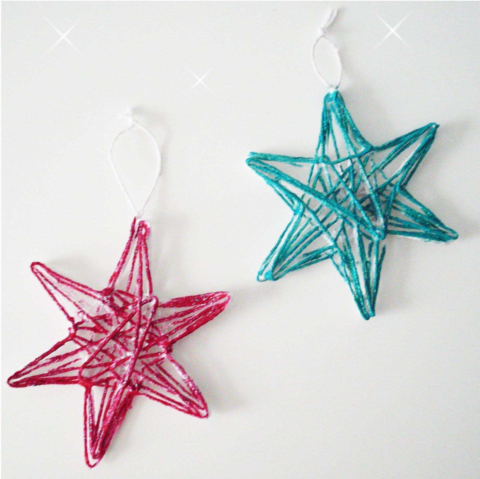 Arte de mam diy estrellas para el rbol de navidad - Estrella para arbol de navidad ...
