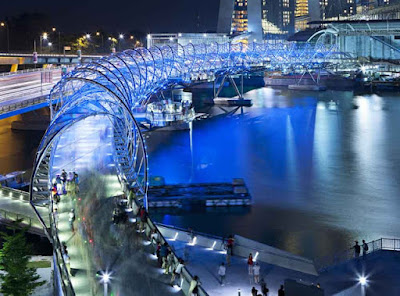 Helix Bridge, Ruang Marina Bay, Singapore