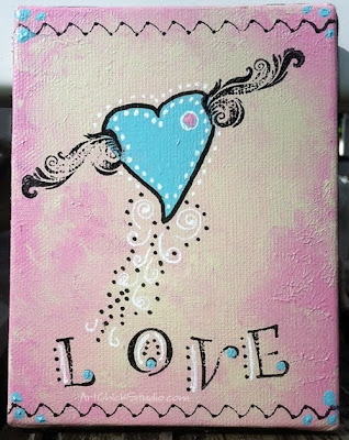 Love Wings Mixed Media