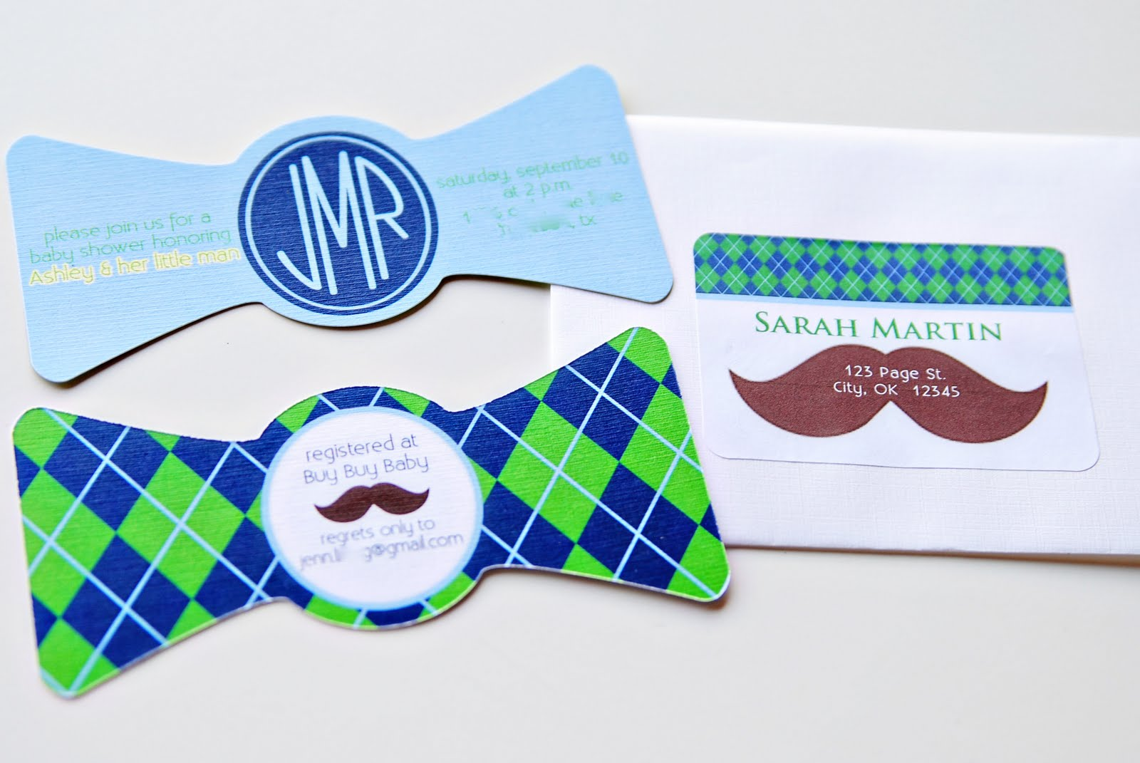 Life {Sweet} Life: Little Man Baby Shower {Bowtie Invitations}