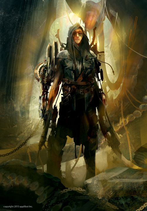 Richard Anderson flaptraps conceptual art illustrations games fantasy science fiction Caçador