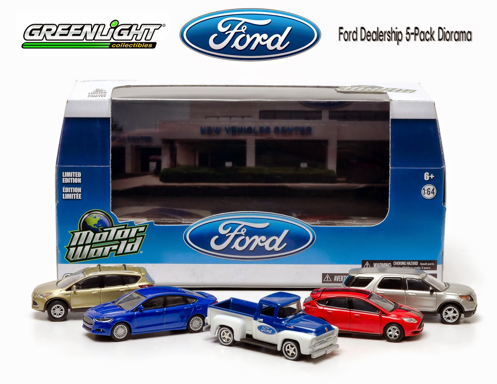 Diecast Hobbist Greenlight Ford Dealership 5 Pack Diorama