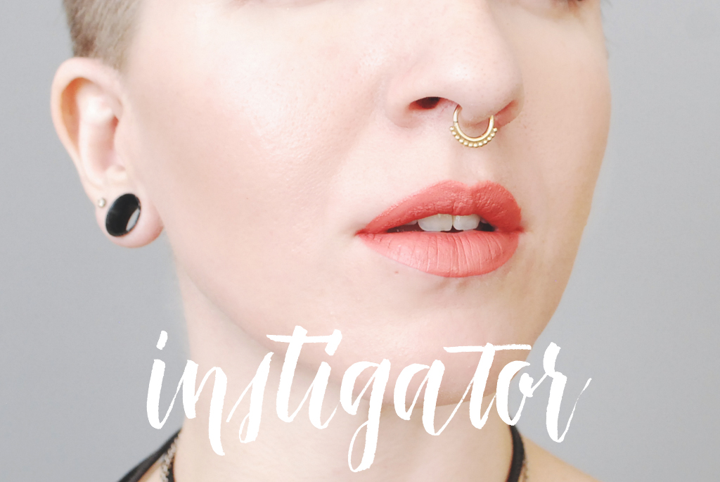 ColourPop Cosmetics Ultra Matte Lip Color - Instigator swatch - Mini Penny Blog