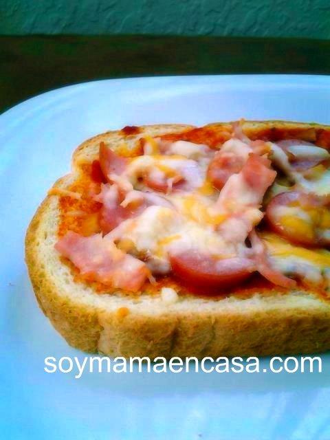 mini pizza casera