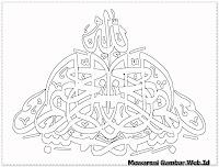 kaligrafi bismillah keren