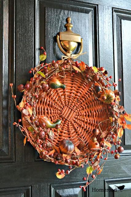 fall basket wreath www.homeroad.net