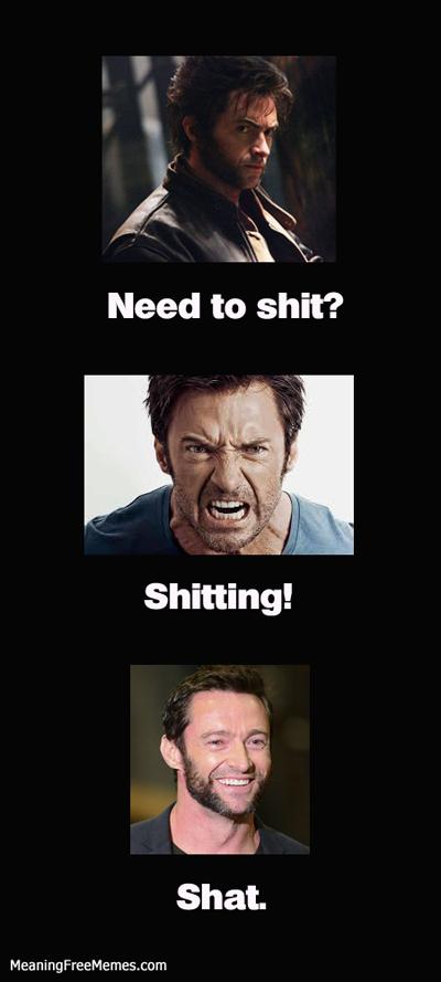 Hugh Jackman Wolverine Shit