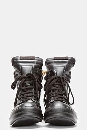 http://www.ssense.com/men/product/rick_owens/black_leather_geobasket_sneakers/78208