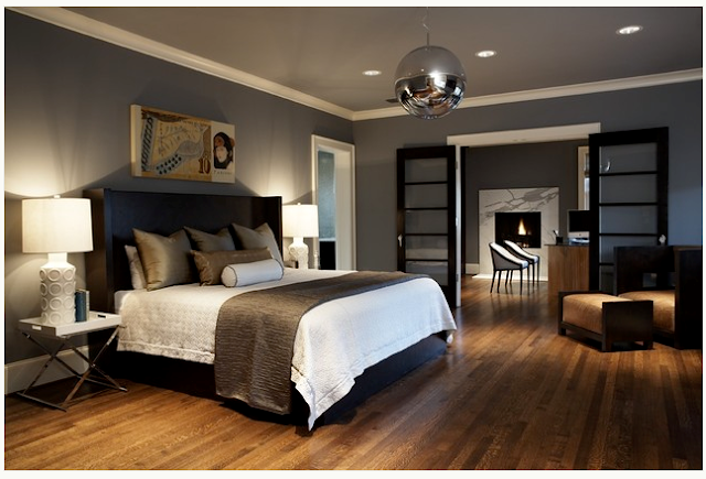 Bedroom with Grey Paint Color Ideas