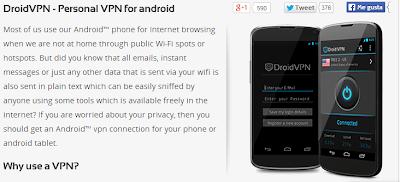 Configuración internet gratis Movistar con DroidVPN  abril 2014