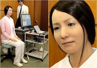 robot perawat cantik jepang