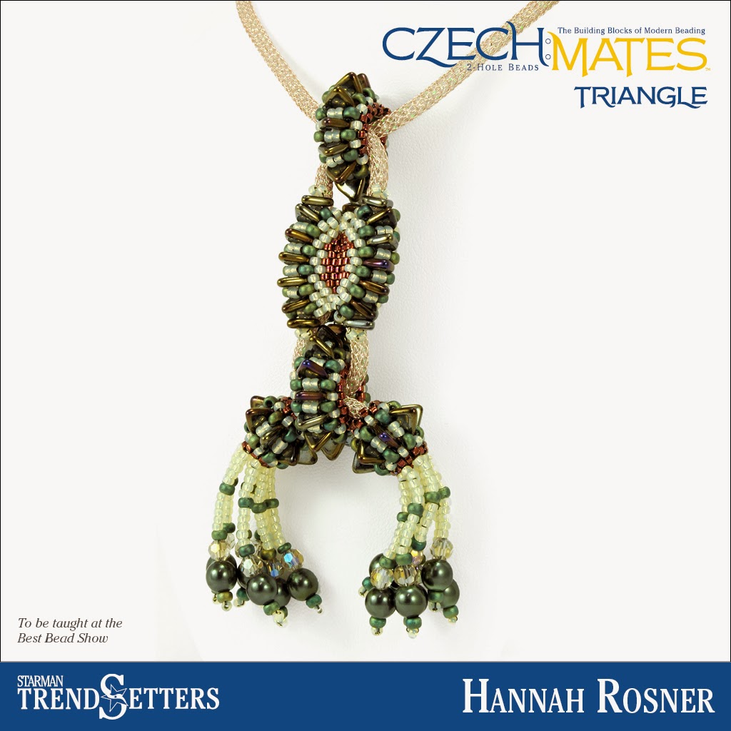 CzechMates Triangle necklace by Starman TrendSetter Hannah Rosner