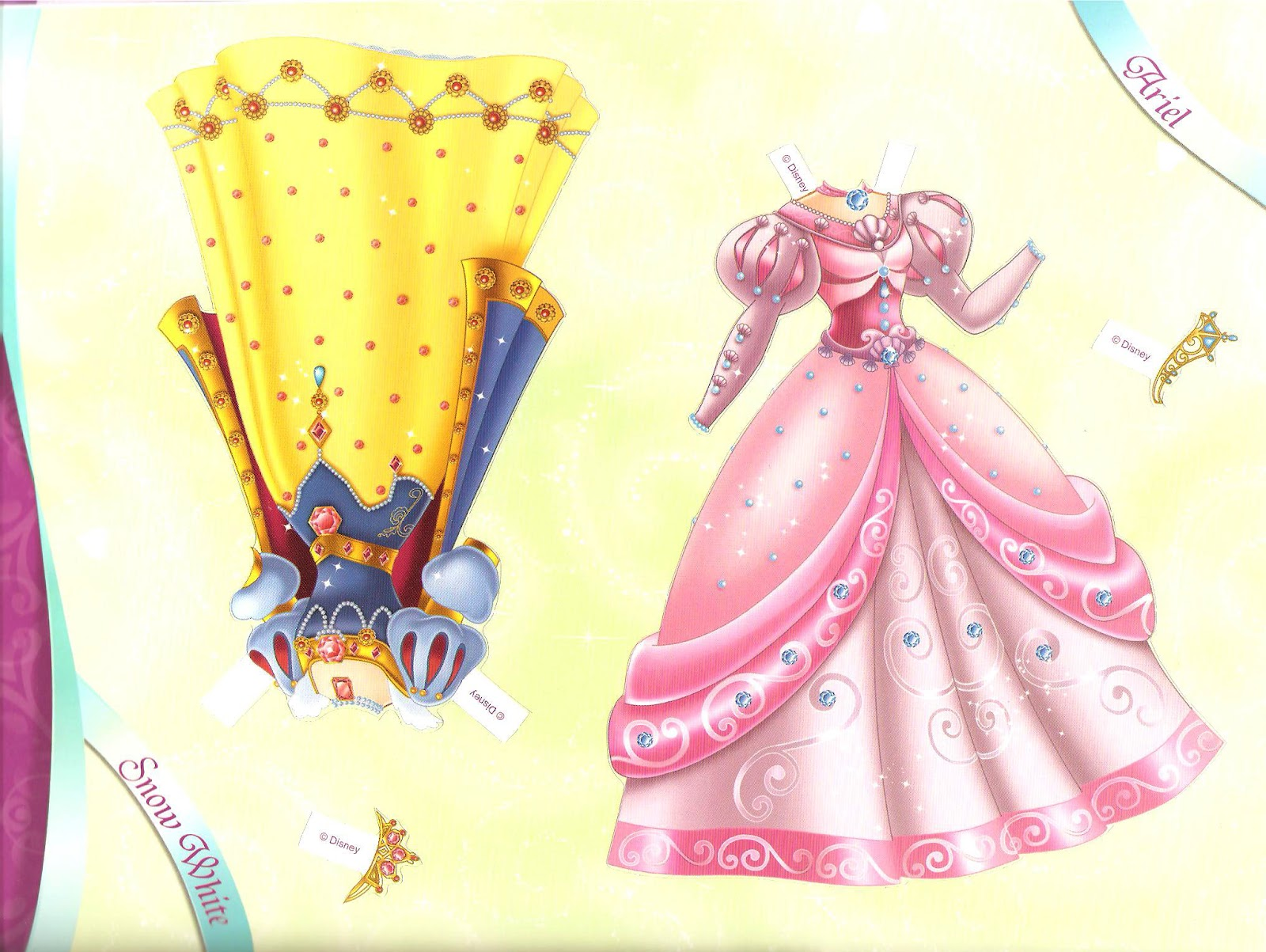 disney princess paper dolls Over the years, many disney characters have made their way into paper-doll form—and with today's craft, you can continue that tradition.