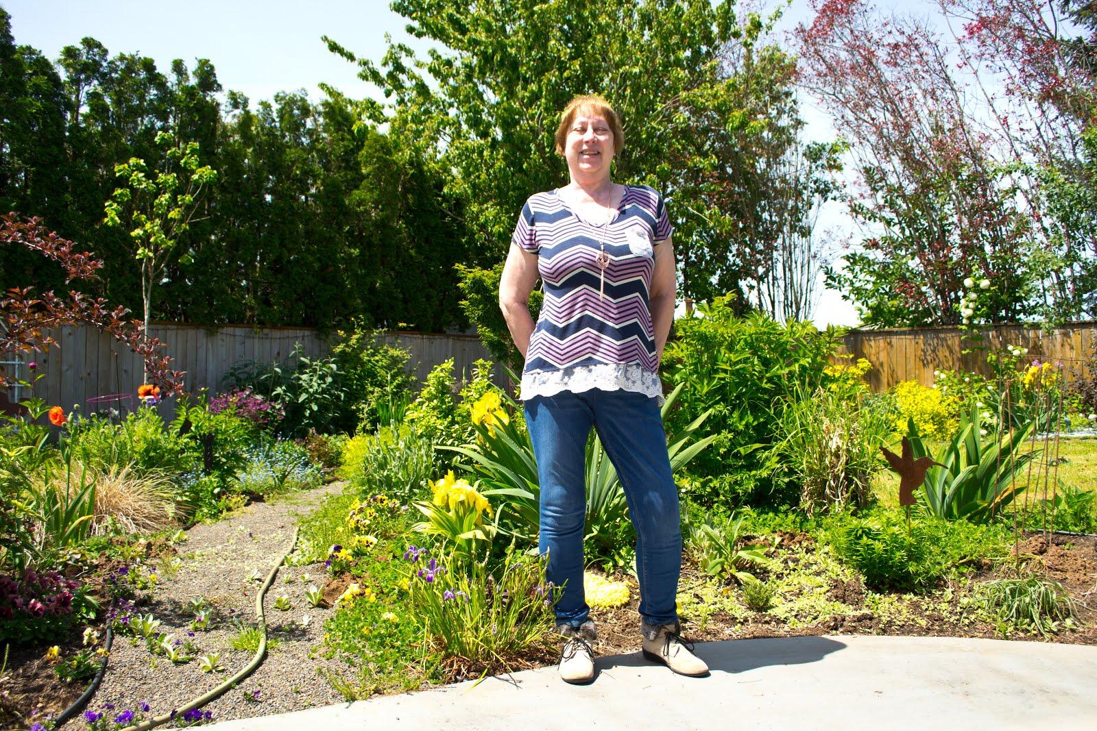 Rose in her garden