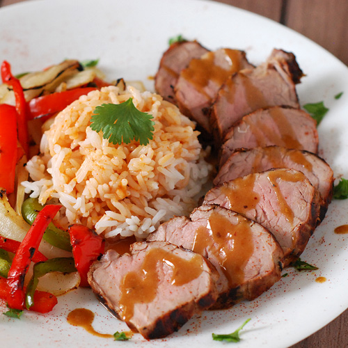 grilled thai pork tenderloin with peanut sauce, kamado grill pork ...