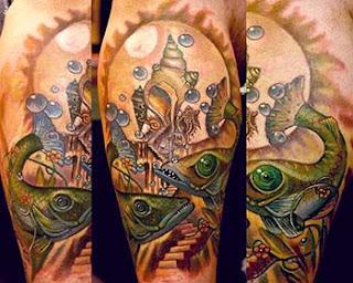 Modelos fotos tatuagens de peixes