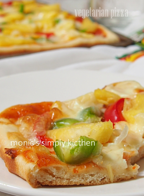 pizza vegetarian mudah