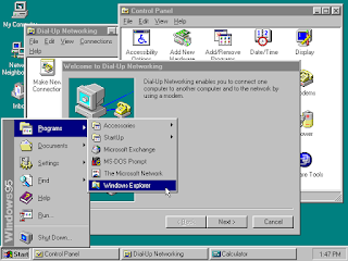windows 95 taskbar