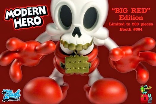 Designer Con 2014 Exclusive Big Red Edition Modern Hero Vinyl Figure by MAD