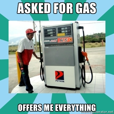 JUST THE GASOLINE GUY...