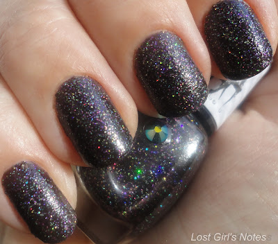 girly bits into the night nail polish swatches