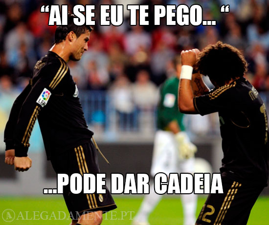 """Imagem de Ronaldo e Marcelo a dançarem: """"Ai se eu te pego…"""" …pode dar cadeia!"""
