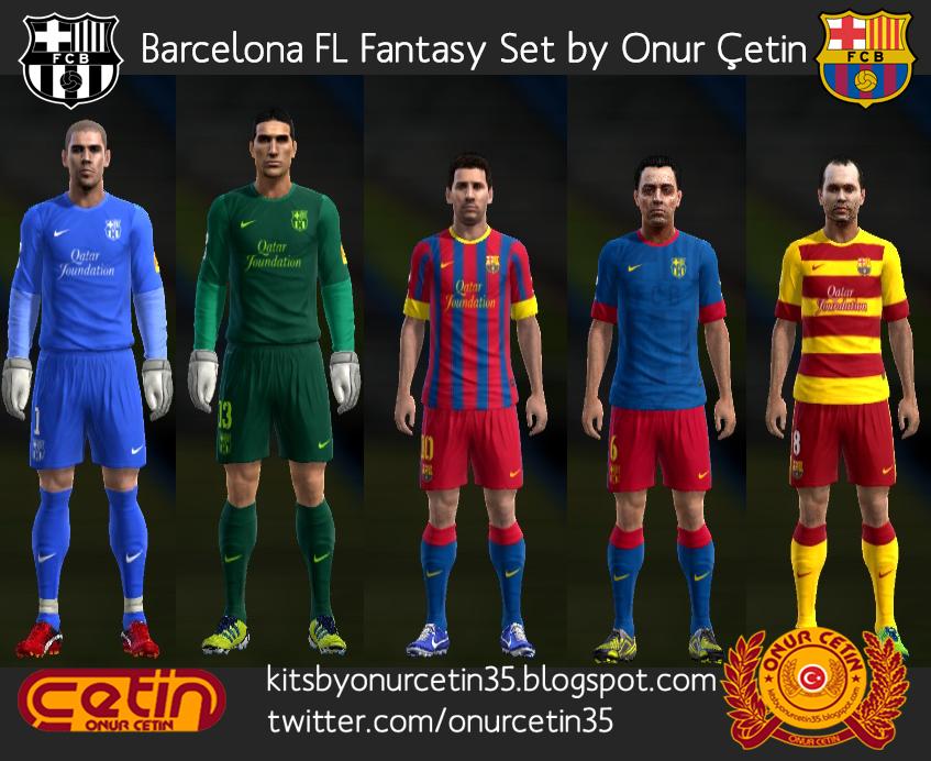 Barcelona FL Fantasy Set (with 12-13 Nike Temp)